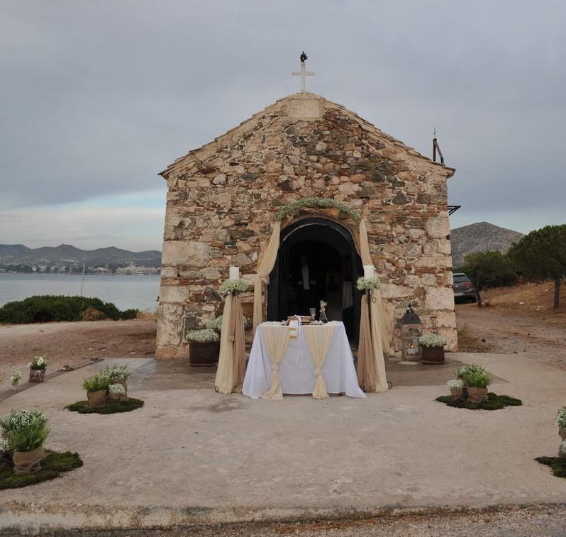 Γάμος στο Ξωκλήσι του Αγίου Νικολάου στην Ανάβυσσο